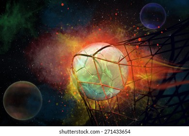 symbolic picture for goal with a soccer ball in net