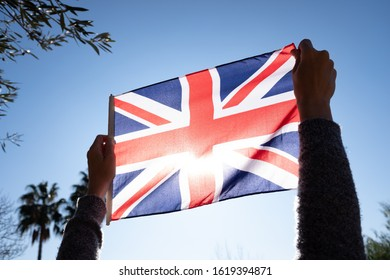 Symbolic protest against United Kingdom by mistreating its national flag.
