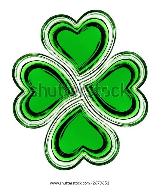Symbolic shamrock of hearts