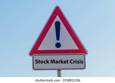 Symbolic Sign Stock Market Crisis