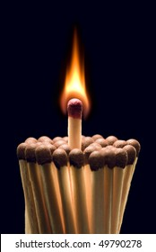 It is symbolical the staff (small fire will make the big fire).
