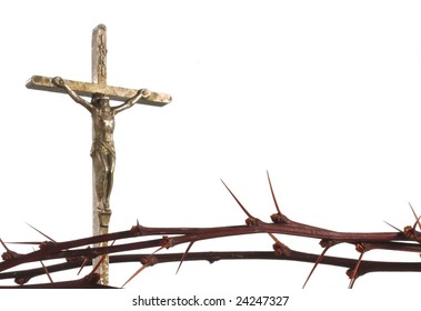 symbols of Easter, crucifix with thorns