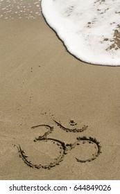 Symbols on sand.