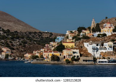 Symi, Dodecanese, Greece. Sept. 27th 2017. Symi Town.