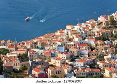 Symi Town, Symi Island, Dodecanese Islands, Greece