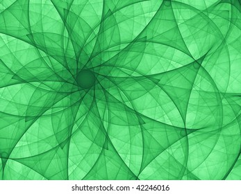 Symmetric abstract background graphic created with curved lines