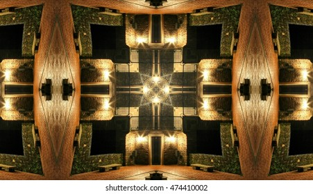 symmetric composition, kaleidoscopic, allegory of Fort Knox, allegory of protecting yourself and defending yourself from others, visual allegories, visual metaphors,photographic allegories, photograp