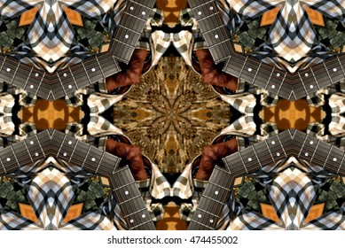 symmetric composition, kaleidoscopic, geometric composition, mast guitar, geometric composition of a three-dimensional space, abstract photography , abstract surrealism, art, abstract,