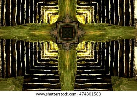 symmetric composition kaleidoscopic geometric