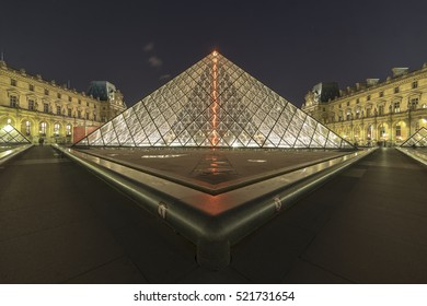 The symmetric Musee Du Lourve Photo taken back in October 2015 in Paris, France