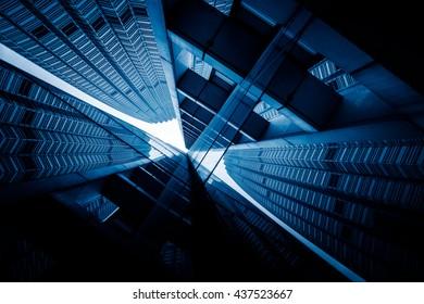 symmetrical buildings