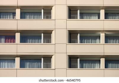 symmetrical facade windows in Yaroslavl, Russia