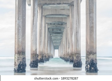 Symmetrical Pier looking out into the ocean
