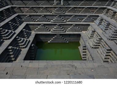 """""""Symmetrical Step well, Hampi, Karnataka, India"""""""