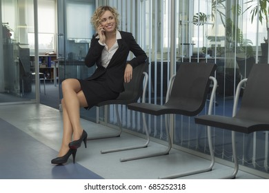 A sympathetic businesswoman at work