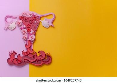 Symptom einer Endometriose, Menstruationsblut, Kunstkonzept, Kopienase