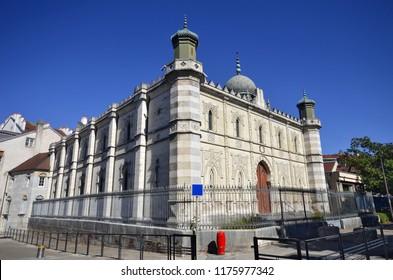 The synagogue of Besançon, located on  Quai de Strasbourg