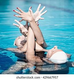 Synchronized swimming performance