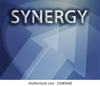 Synergy illustration, abstract management success concept clipart
