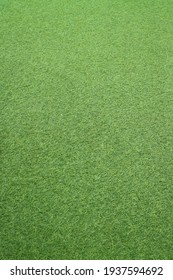 Synthetic grass is green like a field