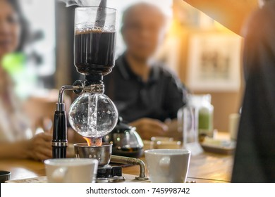 syphon classic coffee maker.