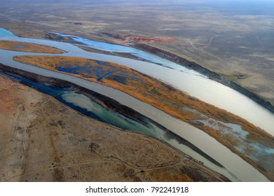 The Syr Darya River in the deserts of Kazakhstan - Shutterstock ID 792241918