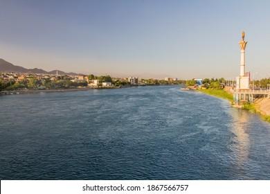 Syr Darya river in Khujand, Tajikistan - Shutterstock ID 1867566757