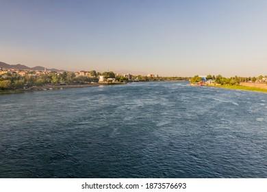 Syr Darya river in Khujand, Tajikistan - Shutterstock ID 1873576693