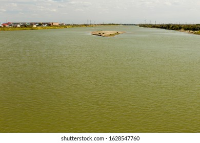 Syr Darya river in Kyzylorda, Kazakhstan. The Syr Darya is a river in Central Asia. - Shutterstock ID 1628547760