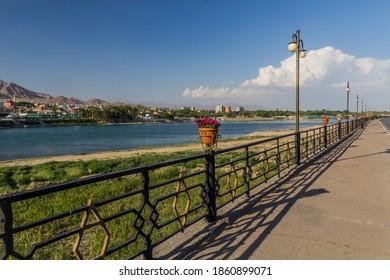 Syr Darya riverside in Khujand, Tajikistan - Shutterstock ID 1860899071