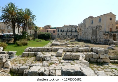 Syracuse is a city in Sicily where Archimedes was born. It is known for the ruins of antiquity. Here the remains of the Temple of Apollo in the peninsula of Ortigia which is the ancient center.  .