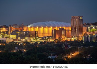 SYRACUSE, NEW YORK - JULY 13, 2019: Carrier Dome on the Syracuse University Campus.