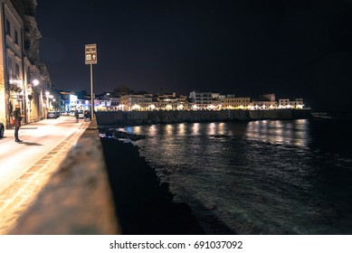 Syracuse at night