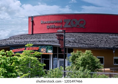 SYRACUSE, NY, USA - MAY 30, 2018: A Closeup Shot of The Rosamond Gifford Zoo Building, Located on 1 Conservation Pl, Syracuse, NY 13204.