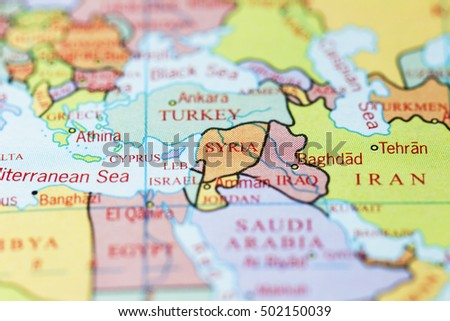 Syria Iraq On Colourful Map Stock Photo (Edit Now) 502150039 ...