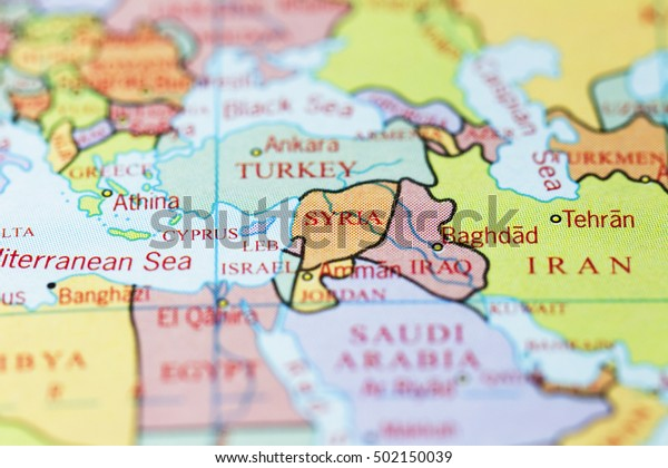 Syria Iraq On Colourful Map Stock Photo (Edit Now) 502150039