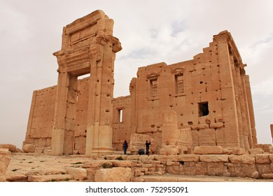 Syria, Palmyra; February 25, 2011; Temple of Bel. Ruins of the ancient city of Palmyra on syrian desert (shortly before the war)
