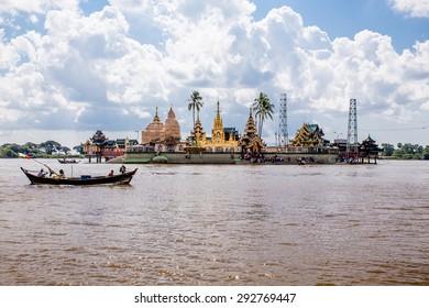 Syriem Yele Pagoda , Island Buddha place in Myanmar