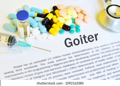 Syringe with drugs for Goiter disease treatment