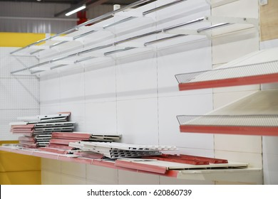 the system for fixing goods on the shelves in the store,mounting on racks for the item