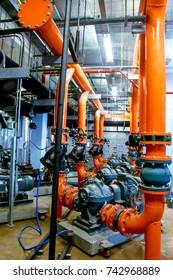 System installation in pump room.