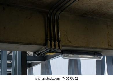 System installation in train maintenance station.