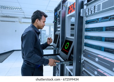 System network administrator success protected system on working in data center room