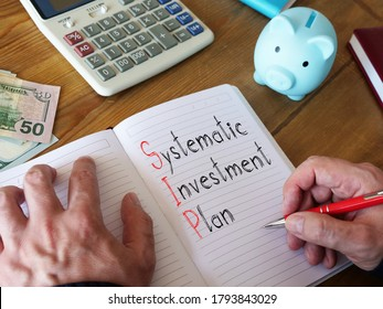 Systematic investment plan SIP is shown on the conceptual business photo