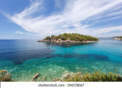 Syvota, Agia Paraskevi island. Beautiful Landscapes of Agia Paraskevi  island, Perdika, Sivota, Greece