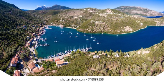 Syvota Lefkada Greece panorama over the harbour
