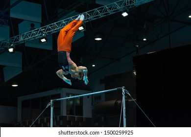 Szczecin / Poland - 14th April 2019: European Artistic Gymnastics Championships - Apparatus Final - MAG Horizontal Bar - Epke Zonderland