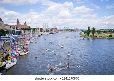 Szczecin, Poland - August 05, 2017: The Tall Ship Races. International event for sailing ships. The current sponsor of the Tall Ships' Races is the city of Szczecin
