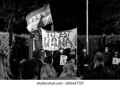 Szczecin, Poland - October 26th, 2020 - Protest against anti-abortion law restrictions