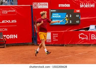 Szczecin / Poland - September 10th 2019: PEAKO Szczecin Open ATP Challenger Tour tennis tournament - Piotr Galus vs. D.Masur round 1